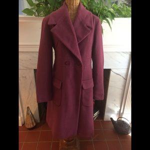 Authentic Fendi Plum Wool Blend Coat